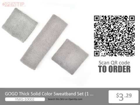 GOGO Thick Solid Color Sweatband Set from Opentip.com