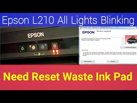 Epson L210 Resetter , How to Reset, Service Required