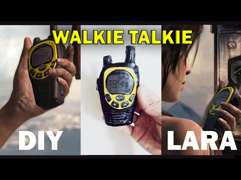 DIY Walkie talkie cosplay Lara Croft Tomb Raider J&R