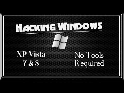 Hacking Windows NO TOOLS (Forgot Your Password?) 2014