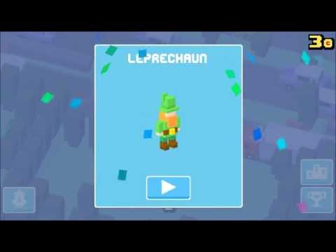[Crossy Road]unlocking new hidden characters 2/3 (UK update):Leprechaun & Phone Box (clues for 3rd)