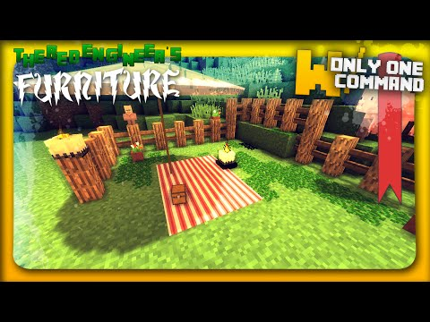 Minecraft garden furniture with only one command block