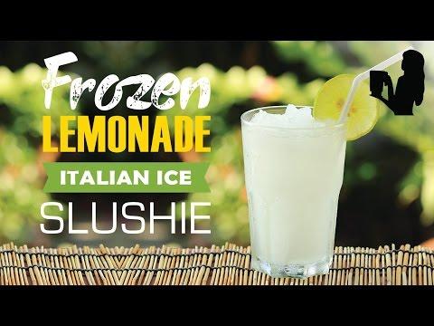 Frozen Lemonade Slushie recipe made using a Vitamix or Blendtec commercial blender