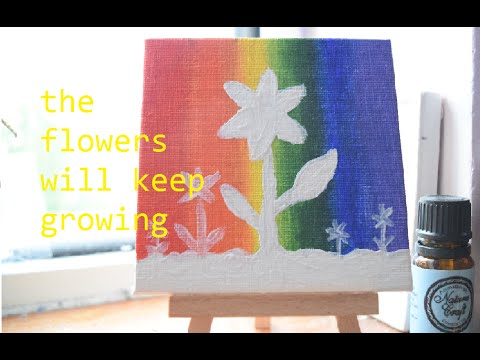 the flowers will keep growing ; a speed paint