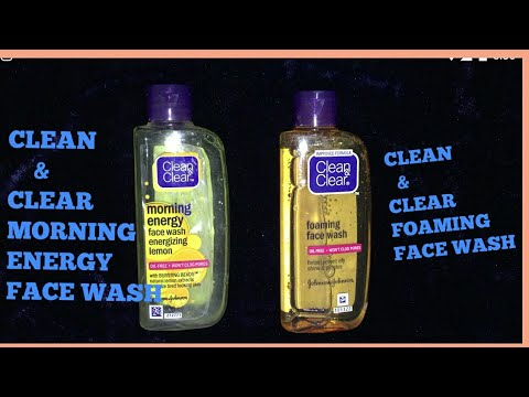 CLEAN & CLEAR FOAMING FACE WASH v/s CLEAN & CLEAR MORNING ENERGY FACE WASH || FACE WASH FOR SUMMERS