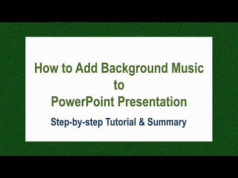 How to Add Background Music to Powerpoint Presentation | Step-by-Step Tutorial