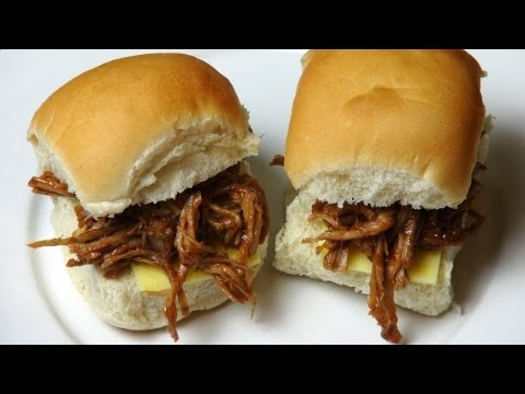 Slow Cooked BBQ Pulled Pork Sliders | One Pot Chef