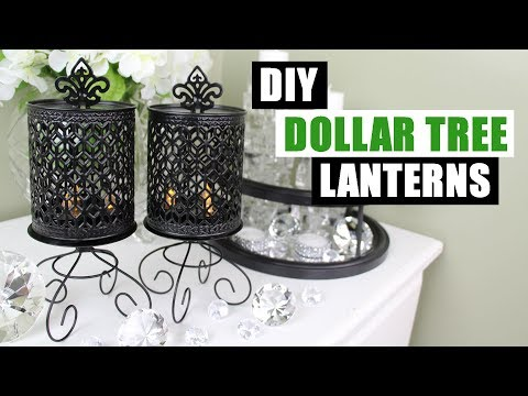 DIY DOLLAR TREE LANTERNS DIY Candle Holders