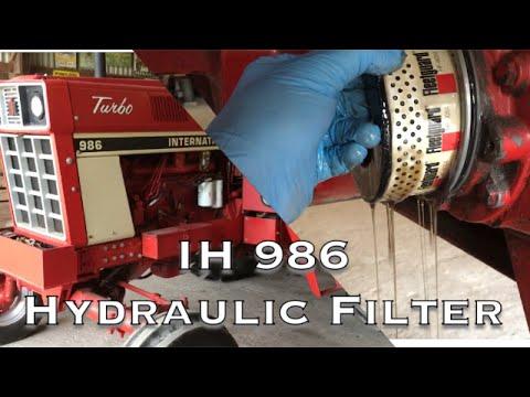 IH 986 Hydraulic Filter Change