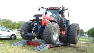 Case IH 7120 Magnum Pulling The Sledge at Pulling Event in Lyngså | Tractor Pulling Denmark