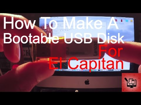 How to create a bootable El Capitan USB disk