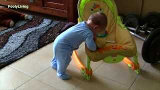 Newborn to 6 Month Old Baby - CRAWLING AND STANDING!! Amazing!!