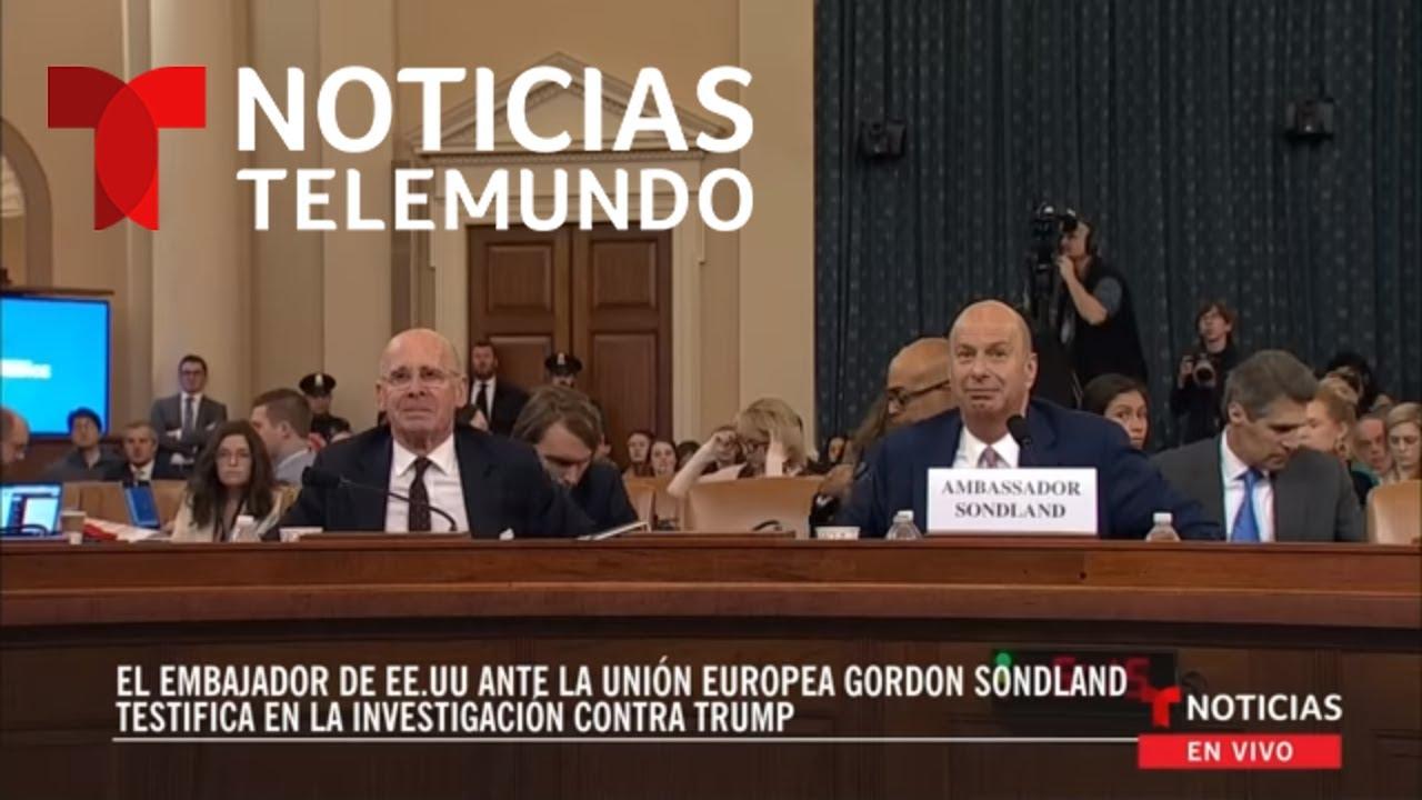 EN VIVO: El embajador de EE. UU. ante la Unión Europea testifica en la investigación contra Trump