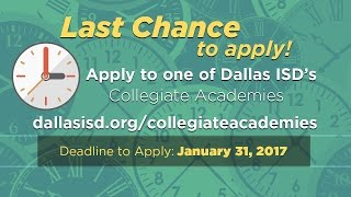 Last Chance to Apply to Dallas ISD