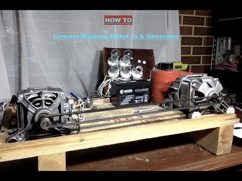 Convert Washing Machine Motor To a Generator