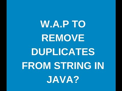 How to remove the duplicates From String in java?