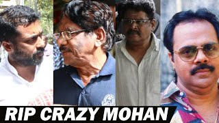 Download Surya, Bharathiraja , K S Ravikumar pay last respect to Crazy Mohan Video