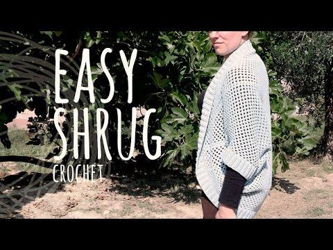 Tutorial Super Easy Shrug Crochet