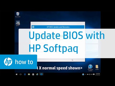 Updating System BIOS Using HP Softpaq