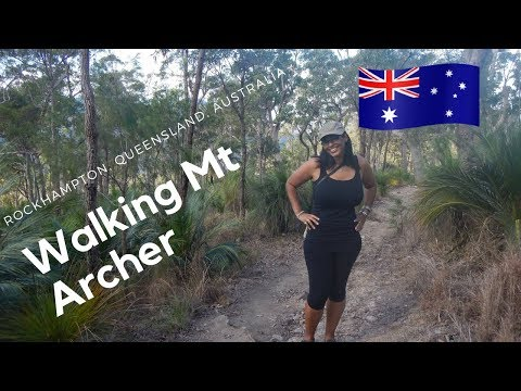 Walking in Mount Archer national park   Queensland, Australia