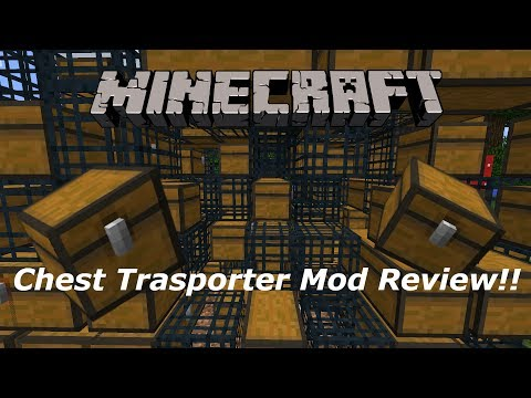 Minecraft 1.11.2 : Chest Transporter Mod Review! | Move chests and spawners!!