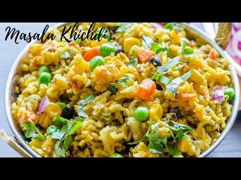 मसाला खिचड़ी रेसिपी - स्वादिष्ट मसाला खिचड़ी बनाने का तरीका -Masala Khichdi Recipe In Hindi