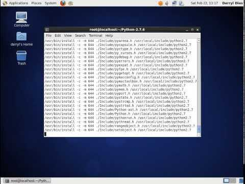 Compiling and installing Python 2.7.6 on CentOS