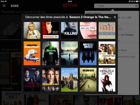Navigating Netflix app on iPad Retina