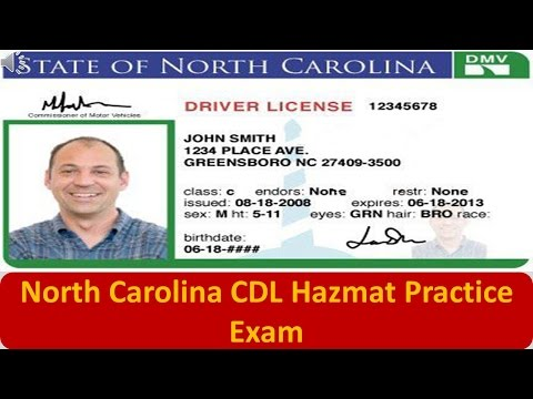 North Carolina CDL Hazmat Practice Exam