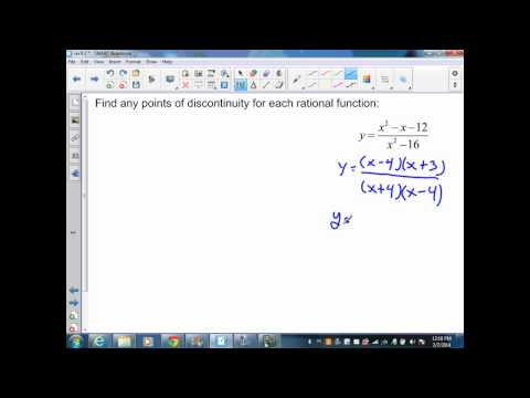 sec9 3 Alg II Rational Functions and Discontinuity