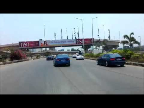 Imported cars on indian road