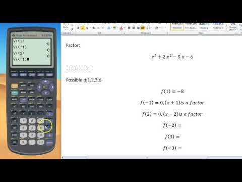 How to Factor w/ TI 83/84 Graphing Calculator
