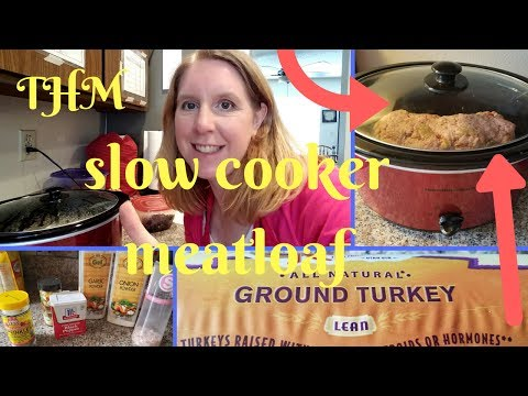 Slow Cooker Meatloaf ||Large Family||Trim Healthy Mama S