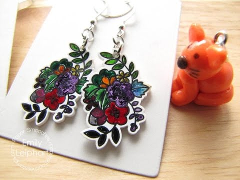 {Crafts for Kids} Shrink Film Earrings and Charms