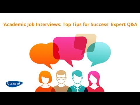 'Academic Job Interviews: Top Tips for Success' jobs.ac.uk Hangout on Air - full length