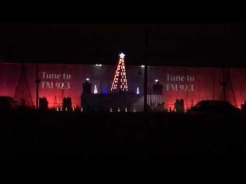 Chico Nut Christmas light show Farmer Style