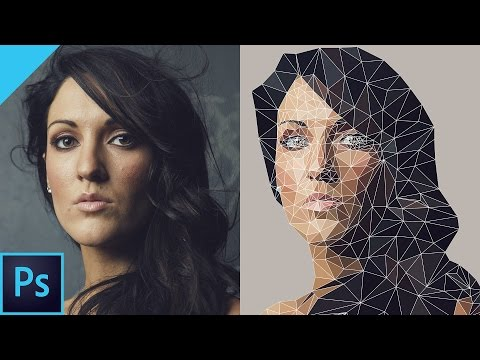 BEST: Create Vector Low Poly Effect with Photoshop CC!