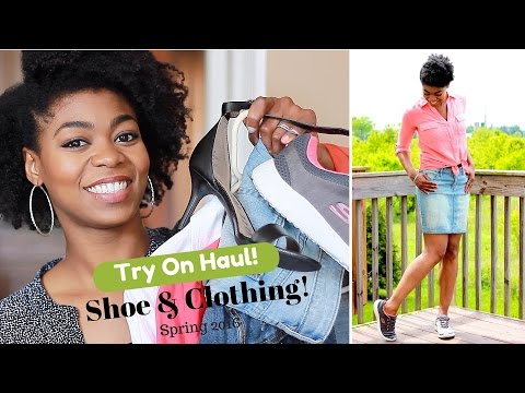 Casual Shoe & Clothing Try-on Haul! (Spring 2016 - (Skechers, JcPenney, Kohl's, Target)- NaturalMe4C