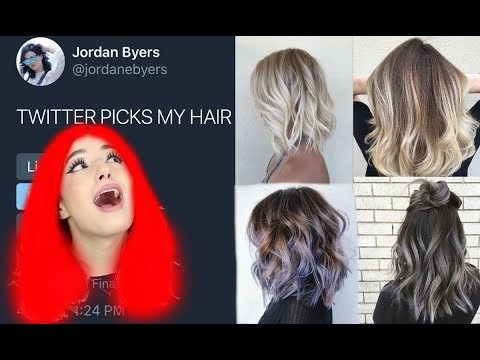TWITTER CHOOSES MY HAIR COLOR!