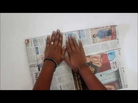 How to make Newspaper Bag for Shoe Store which can carry 4 kgs of weight