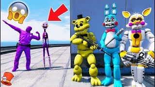 DID PURPLE PUPPET JOIN PURPLE GUY? THE DARK SIDE! (GTA 5 Mods For Kids FNAF RedHatter)