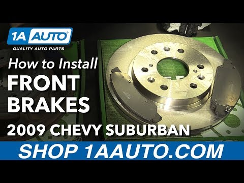 How to Install Front Brakes Pads Rotors 2008-13 Chevy Suburban 1500