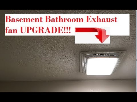 How to REPLACE a Bathroom Exhaust Fan in the Basement