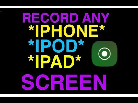 """""""How To Record The Screen On iPhone, iPad, and iPod"""" - How To Use Screen Recorder On IOS 11."""