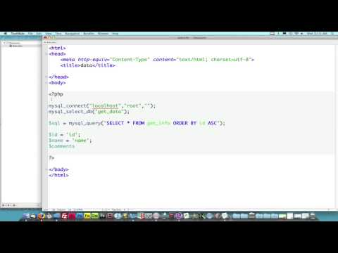PHP Lesson 1: How to get data from MySQL Database