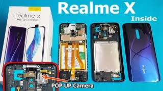 Realme X Teardown    Realme X inside POP UP Camera /How to open Realme X Back Panel