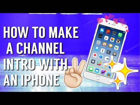 HOW TO MAKE AN INTRO FOR YOUR YOUTUBE VIDEOS ON IPHONE💗