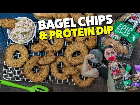 Bagel Chips & PROTEIN Dip in 10 Minutes or Less!