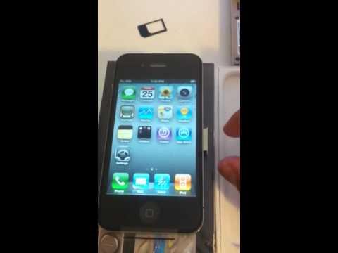 MicroSIM Adapter iPhone 4 iPad Cut Sim Card Tray Tmobile T-Mobile Convert How To