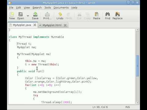 Java Applet Tutorial #10 Adding Thread